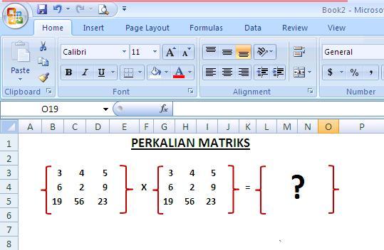 Mengerjakan Perkalian Matriks Di Office Excel 2007